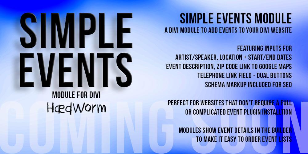 Simple Events Module Development Progress