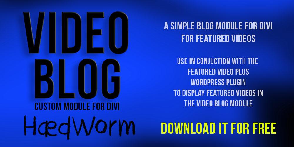 Video Blog Module for Divi
